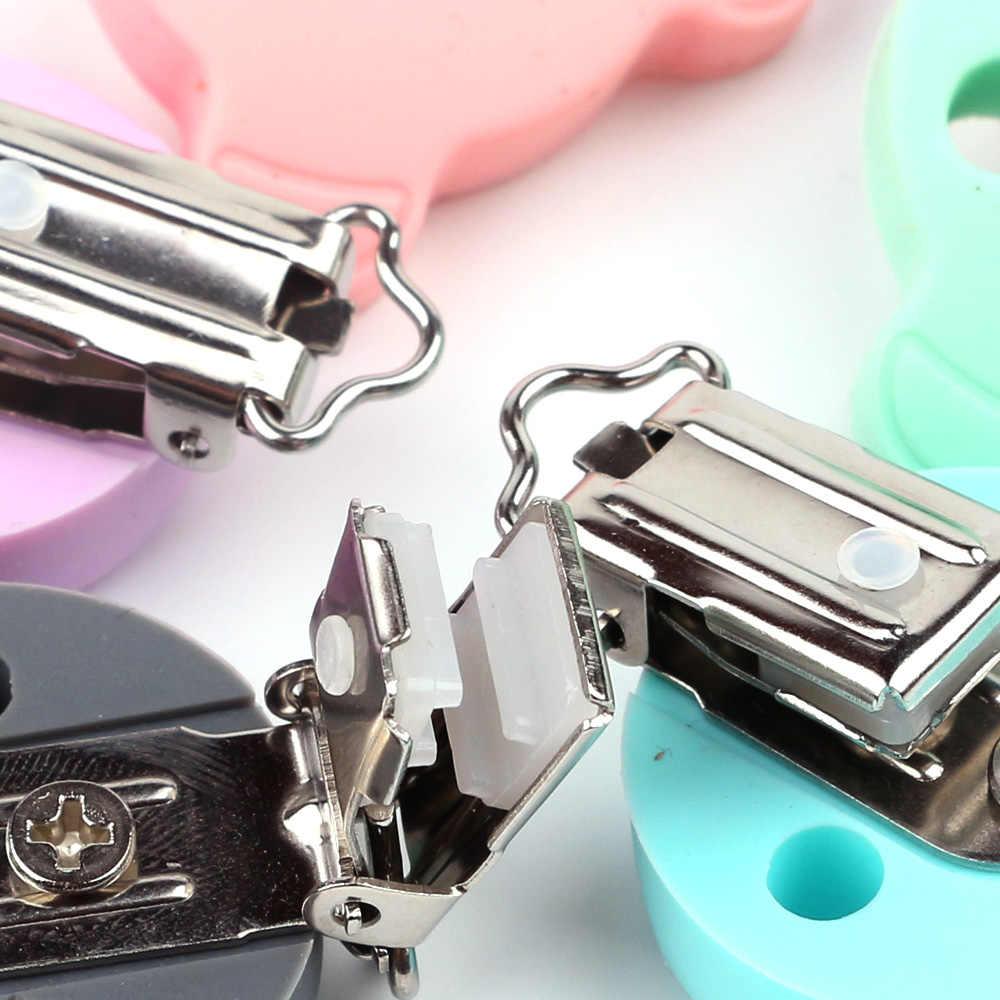 TYRY. HU 1 pc Forma Urso Clipe Cadeia Chupeta BPA Livre Silicone Bebê Chupeta Clipe Beads DIY Craft Enfermagem Acessórios Do Brinquedo