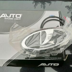 Image 5 - Car Styling 4D Cold Light LED Emblem Logo Light for Lada Granta Vesta Xray Largus VU 4X4 Niva Kalina Priora Car Accessories