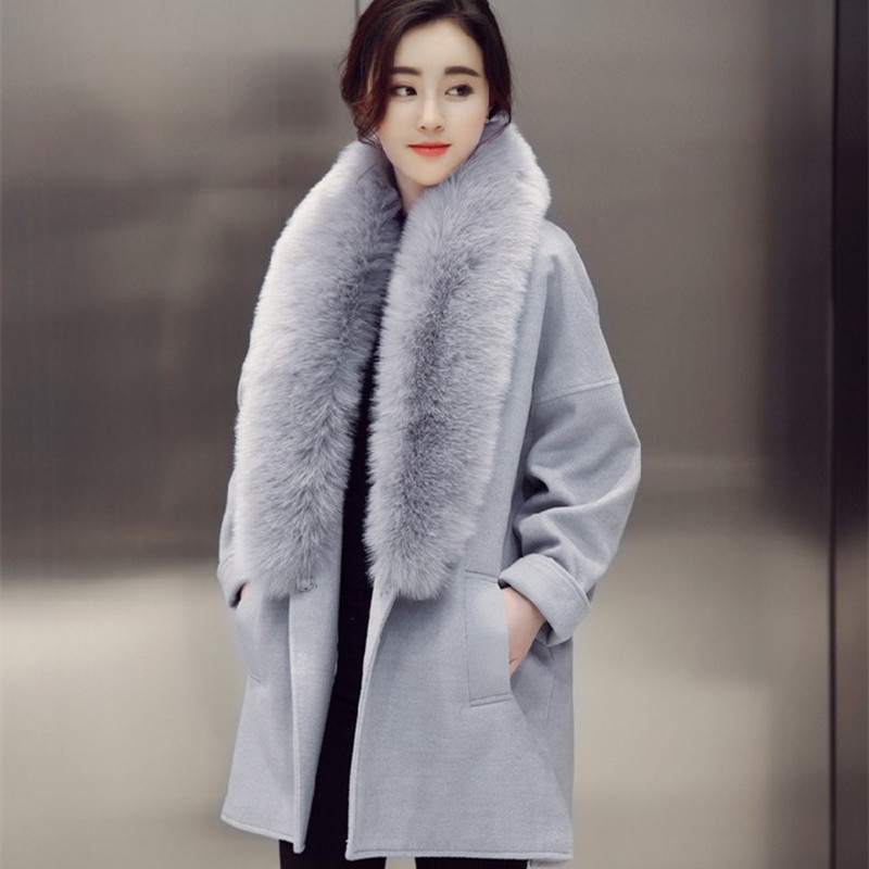 Popular Long Wool Coat Fur Collar-Buy Cheap Long Wool Coat Fur