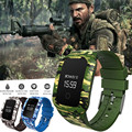 Падение shippingJasmine Военные camouf Спорта Водонепроницаемый Bluetooth Smart Watch Phone Mate Для Android IOS Dec14