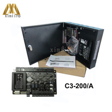C3-200 Two Doors Access Control Panel ZK TCP/IP Door Access Control System Access Control Board With Power Supply Box