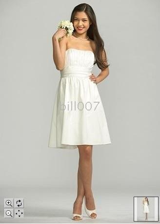 Short Strapless Cotton Sateen Dress