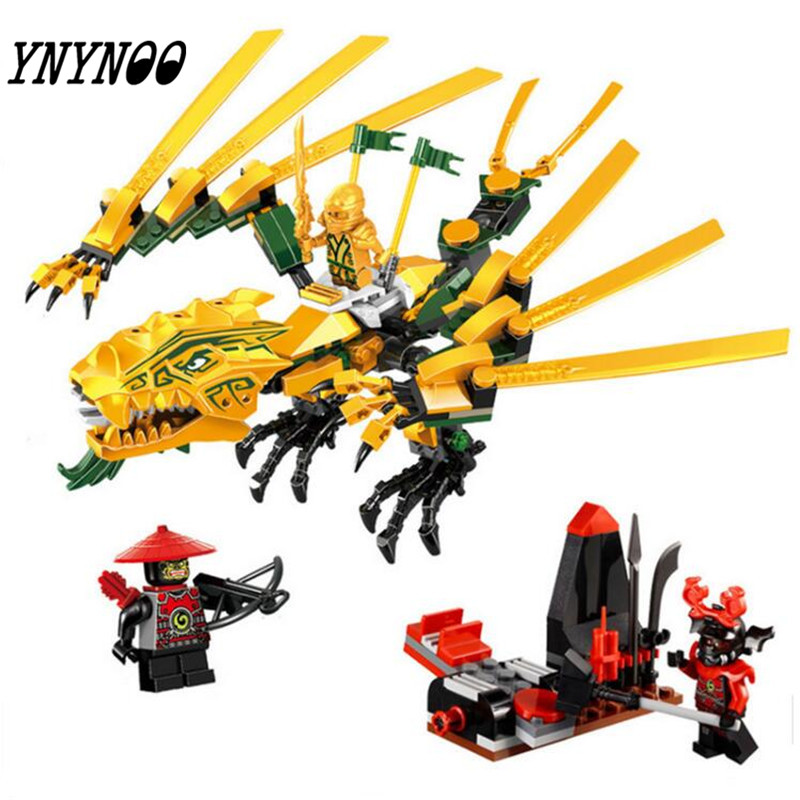 (YNYNOO)2017 NEW BELA Ninja series The Golden Dragon model building blocks figures Classic Toys gifts Compatible 70503 chris wormell george and the dragon