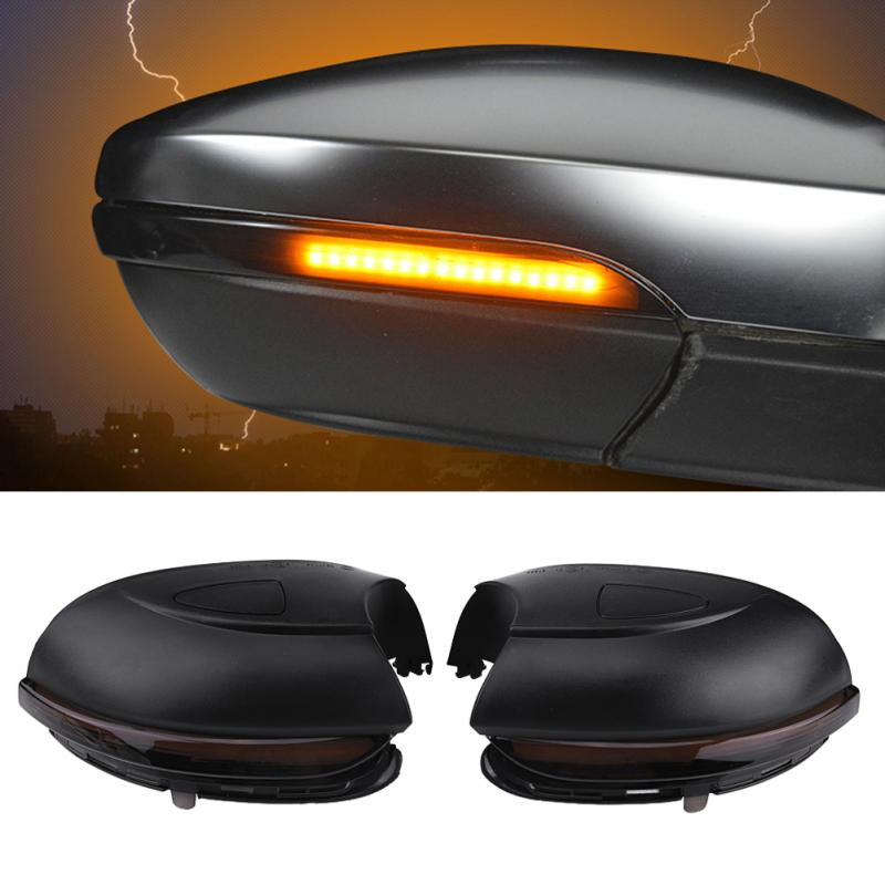 Flowing Turn Signal Rear View Mirror Indicator Light Cover for VW GOLF 6 GTI R32 Touran 13-15