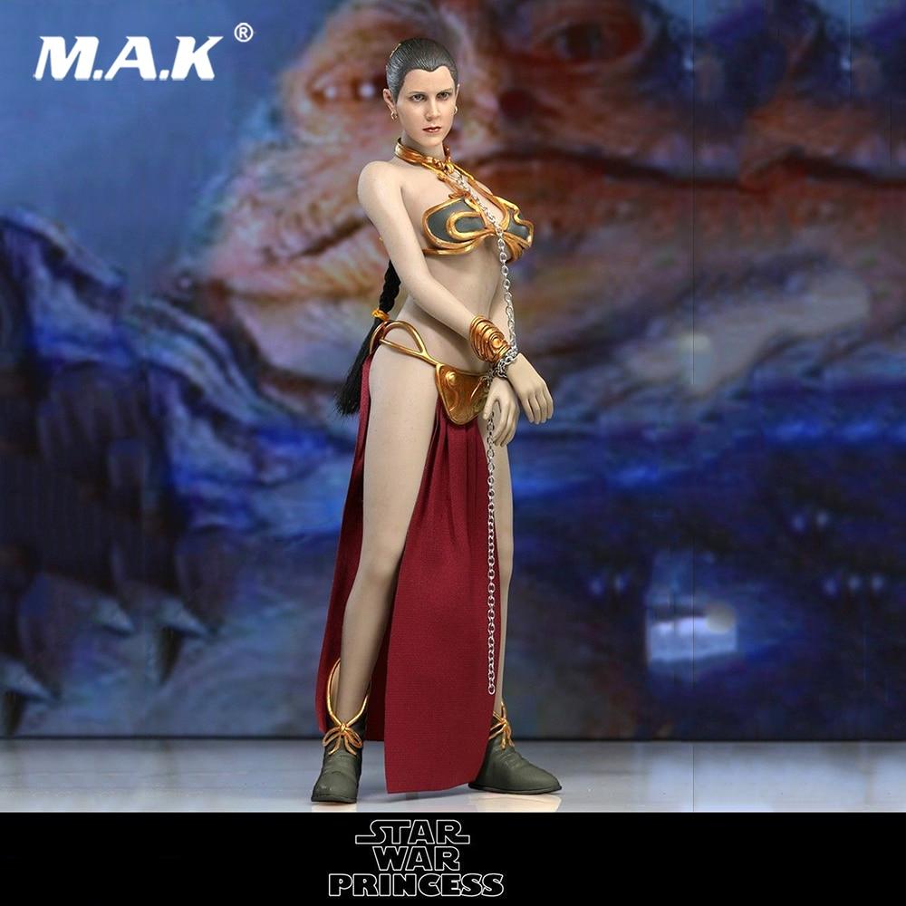 ATX015 Star Wars Princess Leia Solo 1/6 Scale Head Sculpt and Clothes set No Body 1 6 female girl full set action figure star wars the princess leia clothes set
