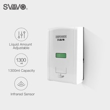 1300Mlติดผนังเซนเซอร์Touchless Automatic Soap Dispenserห้องครัวอินฟราเรดInductionสมาร์ทLiquid Soap Dispenser