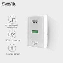 Distributeur de savon automatique sans contact de capteur fixé au mur de 1300ml distributeur de savon liquide intelligent dinduction infrarouge de cuisine
