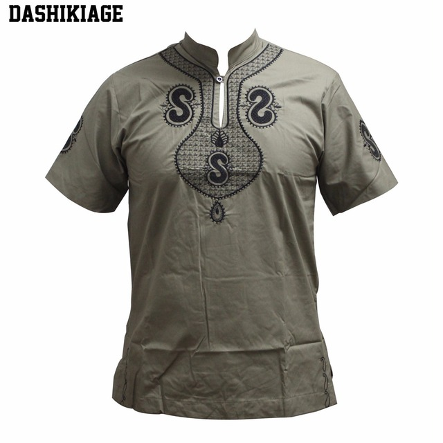 5040bec5a1bd Dashikiage New Design Men s Dashiki Embroidery Short Sleeve Best Colors  Traditional Mali African T-shirt