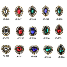 50Pcs/lot Nail Jewelry Diamond 15 Designs Rhinestone Super Flash Retro Sticker for  3D Art Strass