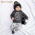 Bear Leader Baby Clothing Sets 2016 Autumn Baby Boy Clothes Long Sleeve Letter Print T-shirt+Pants+Hat 3Pcs Kids Clothing Sets