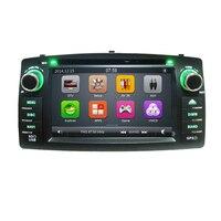 Dvd плеер gps радио для Toyota Corolla E120 BYD F3 головное устройство 2din автомобиля multimedia stereo рулевое колесо управления USB SD карта
