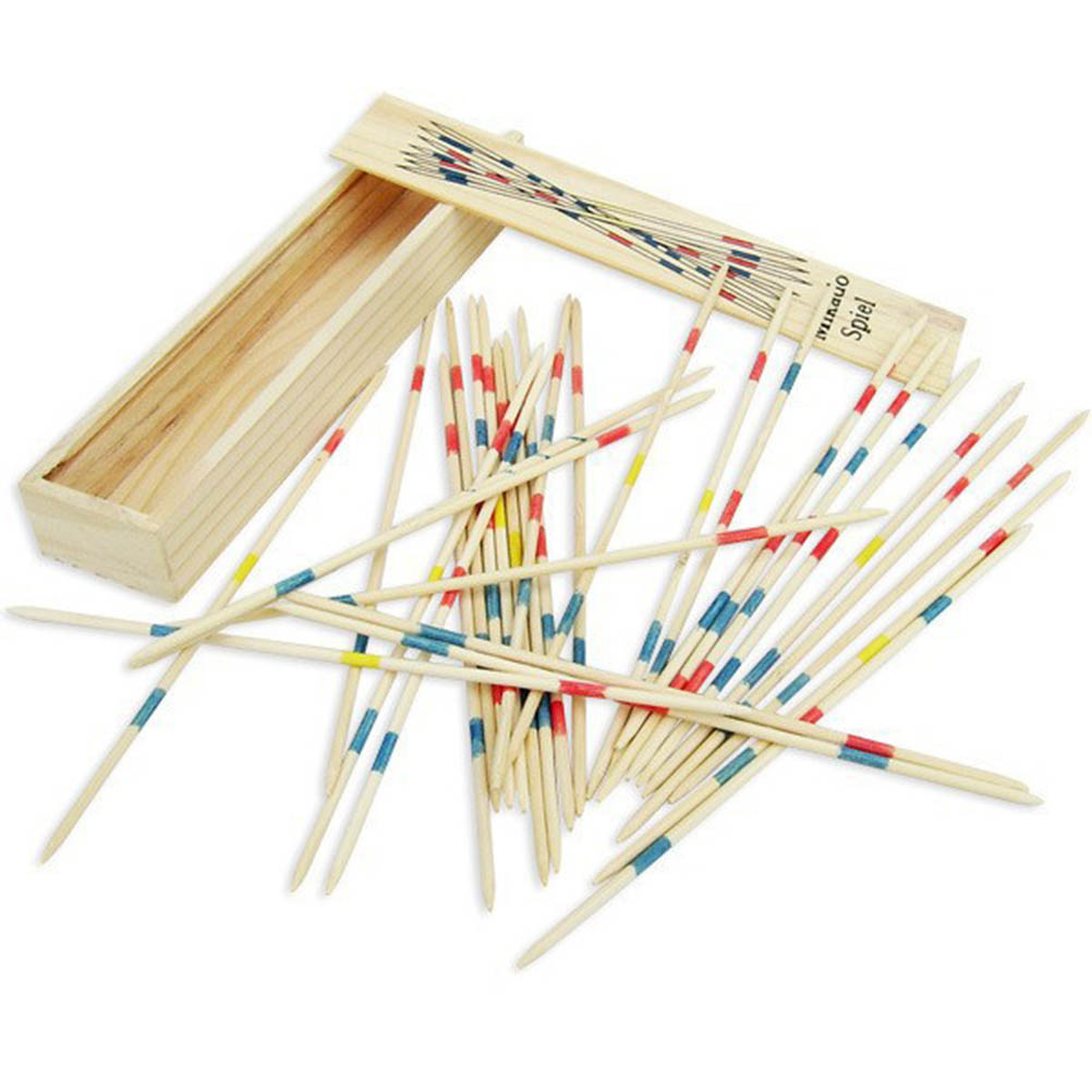Multiplayer Game Baby Educational Wooden Traditional Mikado Spiel Pick Up Sticks With Box Game Spillikin Game stick Souptoys image