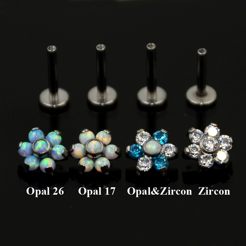 Earing Prong Tragus Cartilage Body Piercing Jewelry Stud Ear Ring Titanium steel