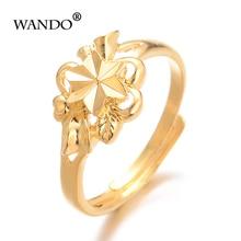 WANDO Ethiopian Gold Color Star Wedding Ring Women girl Nigerian Somali African Fashion flower Ring Middle East Jewelry gift R63 somali piracy