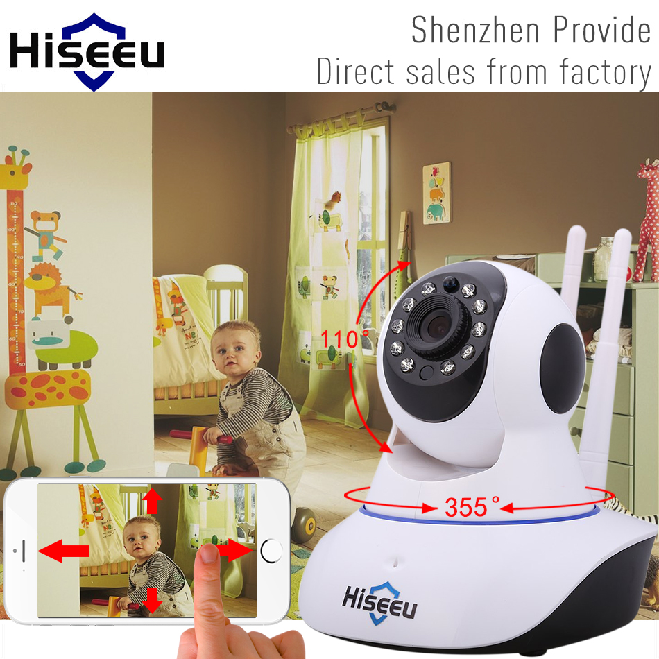 Hiseeu HD 720P Wireless IP font b Camera b font Wifi Night Vision font b Camera