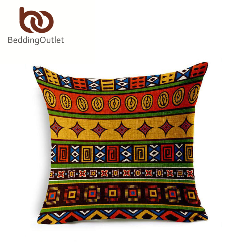 SleepWish Qige Cushion Cover Bohemian Cotton Linen Home Textiles Boho Bedding Geometry Sofa vintage Pillowcase Limited