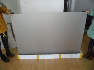 Image 4 - Free Shipping! (On sale!) 1.524m*0.65m Transparent hologram Rear Projection Screen Film for shop window