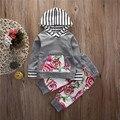 Малыш Девочка Мальчик Цветочные Топы Толстовки + Длинные Брюки 2 Шт. Наряды Set Одежда