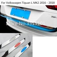 Auto Hinten Zurück Tür Lizenz Heckklappe Stoßstange Rahmen Platte Stamm Für Volkswagen VW Tiguan L TiguanL MK2 2016 2017 2018 2019 2020-in Chrom-Styling aus Kraftfahrzeuge und Motorräder bei