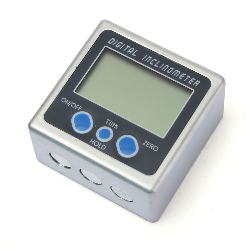 High Quality 0-360 Degree Angle Cube Digital Protractor Level Inclinometer Gauge Magnetic Base New Arrival  цены