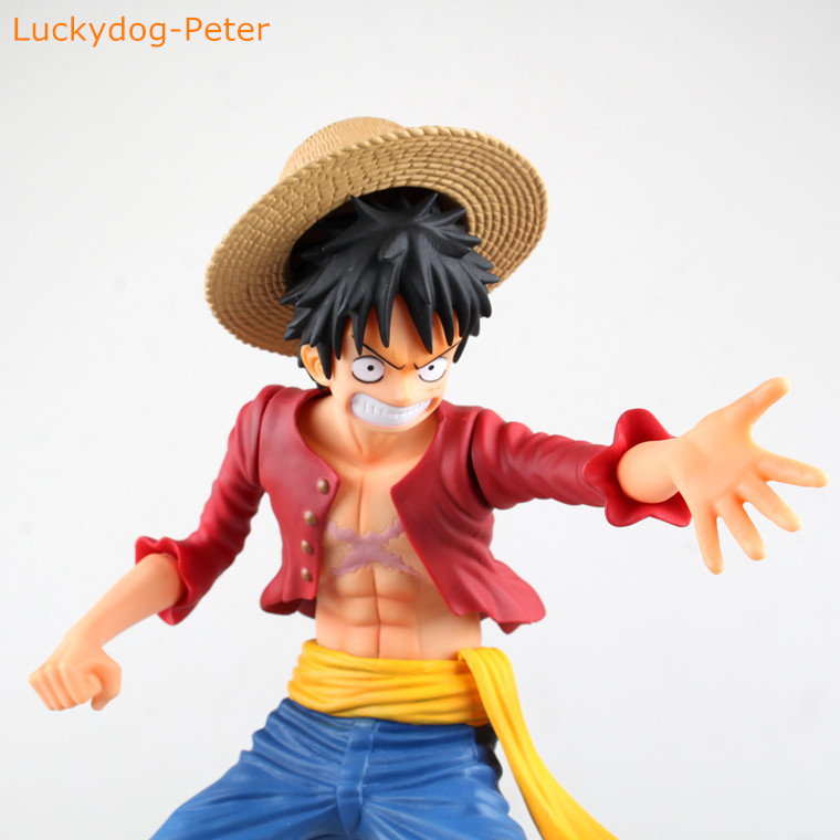 One Piece Super Big Ver Fire Luffy Action Figure Fire Monkey D Luffy Doll Pvc Acgn Figure Brinquedos Anime 32cm Action & Toy Figures