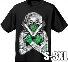 fa0b820a6b58 Fashion Shirt Arrival Mens T shirt Weed Bandana Marilyn Crossed Pistols Pot  Leaf 420 Tattoos Design Cotton Tee For T Shirt