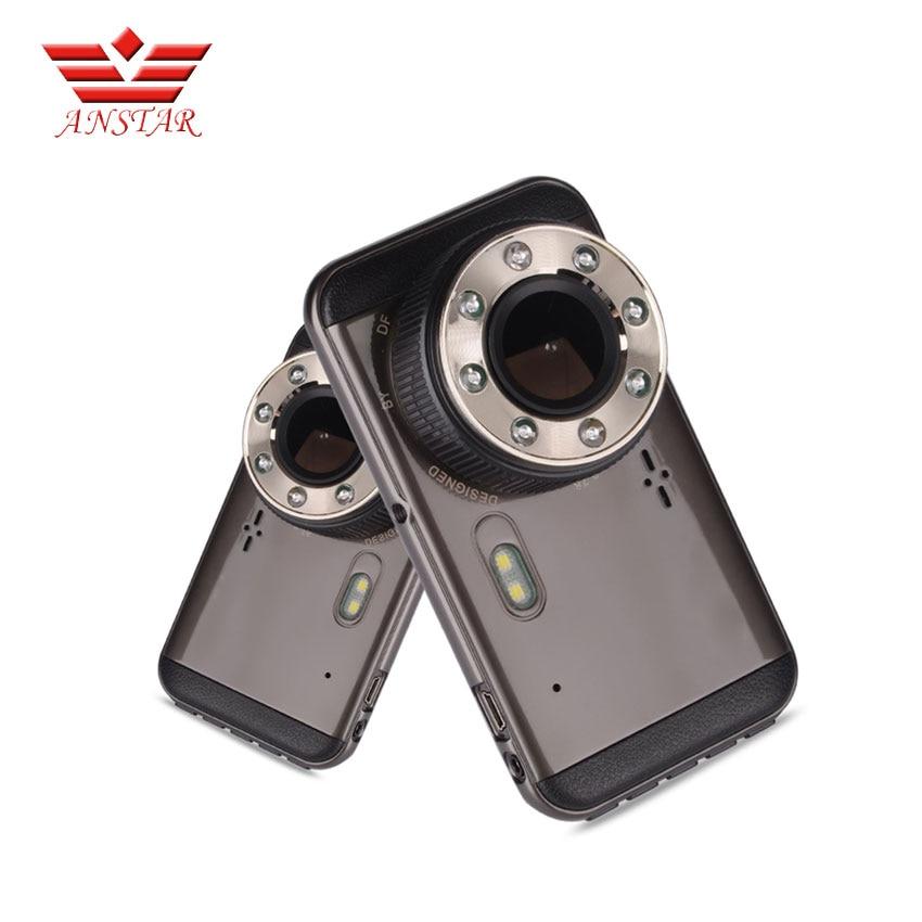 ANSTAR 4 Inch IPS Car Camera DVR Recorder full HD Black Box 130 Degree Dual Lens G-sensor Night Vision Dash Cam Video Recording