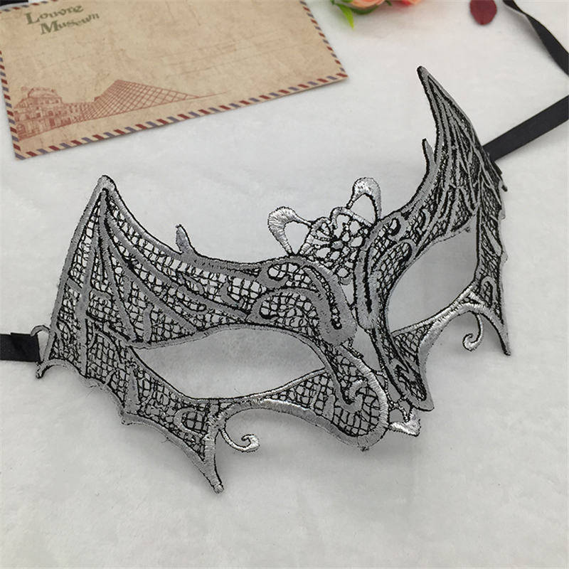 Серебряная горячая штамповка Дамская Сексуальная Маскарадная маска из кружева для карнавала, Хэллоуина, выпускного вечера, Вечерние Маски, маска для глаз#35