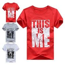 Men's Summer Fashion Hip Hop Letter Print Slim Fit Round Neck T-Shirt Tee Top
