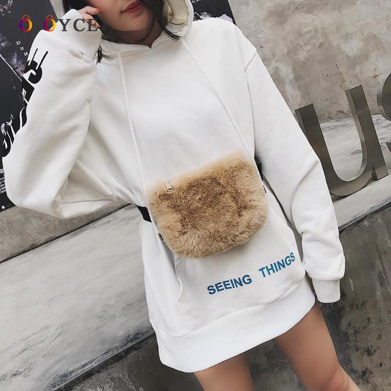 Fashion Teenage Girls Fanny Packs Luxury Plush Waist Packs Crossbody Belt Bag Heuptas Pochete цена 2017