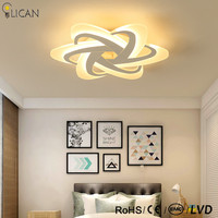 Modern Creative Arcylic Ceiling Lights For Living Room Bedroom Surface Mounted Home Deco Lighting Remote Control