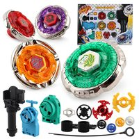 Original Package 1Set Beyblade Metal Fusion 4D Launcher Beyblade Spinning Top Set Kids Game Toys Children