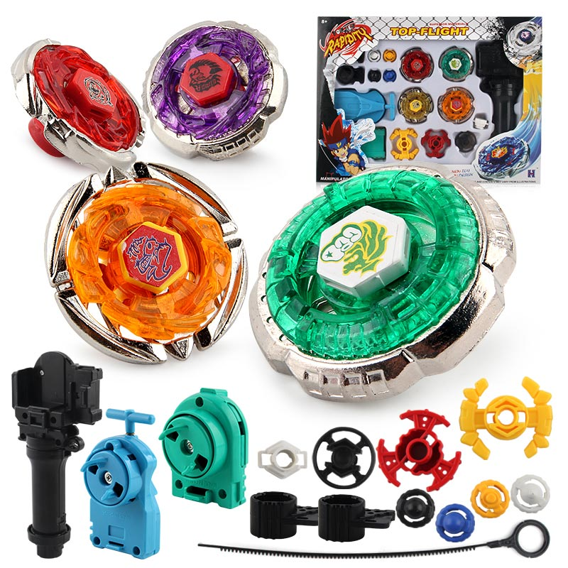 Original Package 1Set Beyblade Metal Fusion 4D Launcher Beyblade Spinning Top Set Kids Game Toys Children