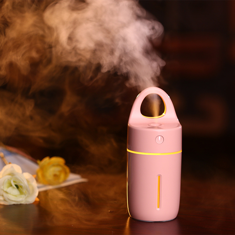 New Silent Mini USB Ultrasonic Humidifier For Car Home Office LED Light Electric Aroma Diffuser Moisturizing Mist Maker 2017 new elecom 2 4g mini mouse vwith charging for home office general balls the mouse girl