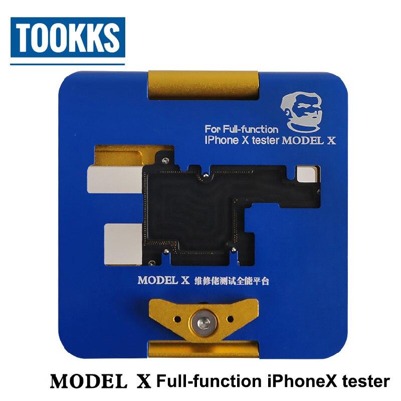 Full-funzione di iPhone X tester Per boot/display/touch/fotocamera/flash/photosentive/distanza /recever/speaker/on-line/wifi di Prova