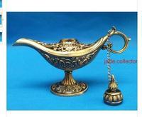 Crafts Arts 2PCS 1Pair  long 12 CM Lamps craft decoration BRASS engraving Al-addins lamp beautiful Arab TDP