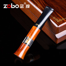 Luxury Briar Wood Dual Filter Cigarette Accessory Cleanable Reusable Smoke Filter Mouthpiece For Smoking Cigarette Holder box aoyue 488 senior anti static dual smoking device filter smoke meter smoking device service platform fixture