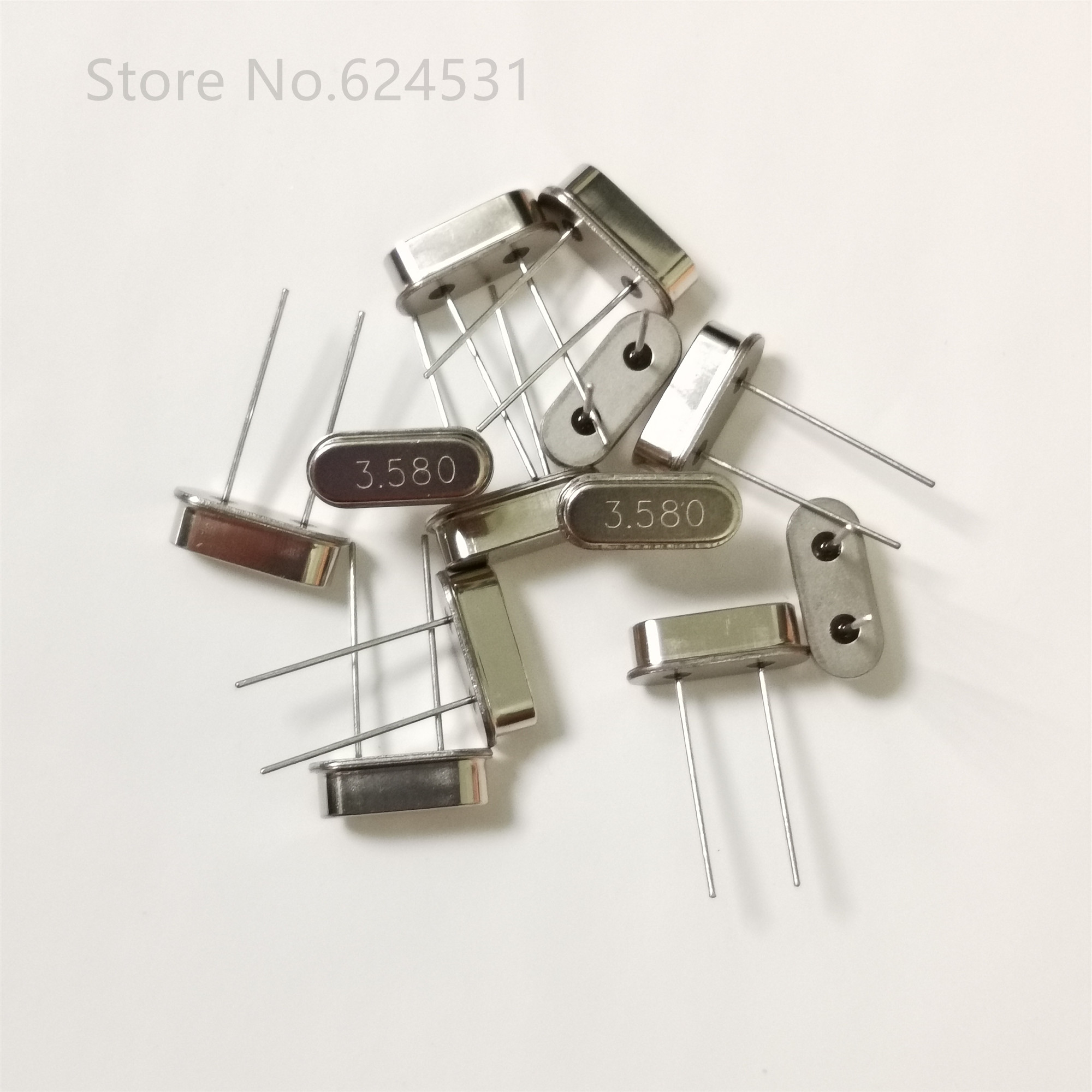 10pcs In-line Passive Crystal Oscillator 3.58M 3.580MHZ 49S 3.58MHZ HC-49S DIP 2P Resonator
