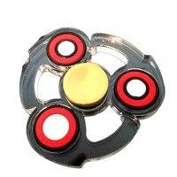 New EDC Tri Hand Four Fidget Spinner Stainless Steel Bearing Acrylic Handspinner Finger Gyro Fidget Toys