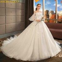 Платье для беременных Высокая Талия Беременность для беременных Свадьба плюс Размеры невесты свадебное платье с длинным шлейфом принцессы