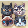 Nuevo Cute Cat Face Estuche de Cremallera Monedero Monedero Maquillaje Buggy Bag Pouch 4 Estilo bolso de la moneda 1 unids Envío gratis