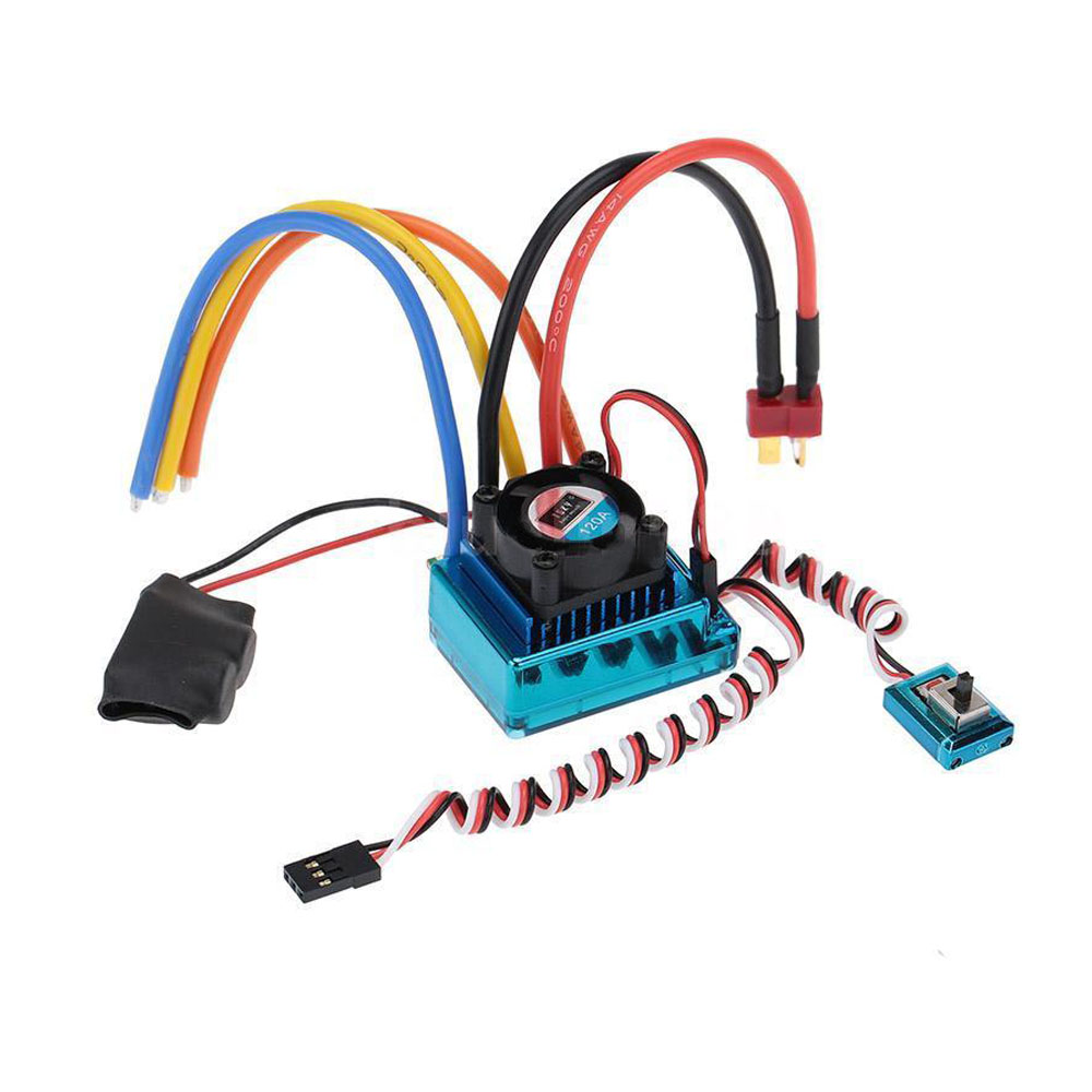 120A Sensored Brushless Speed Controller ESC for RC Car Crawler 30a esc welding plug brushless electric speed control 4v 16v voltage
