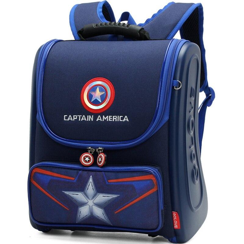 3d Spiderman Kinder Cartoon Schultasche Studenten Wasserdichte Rucksack Junge Reise Schreibwaren Taschen Kühle Captain America Schultasche