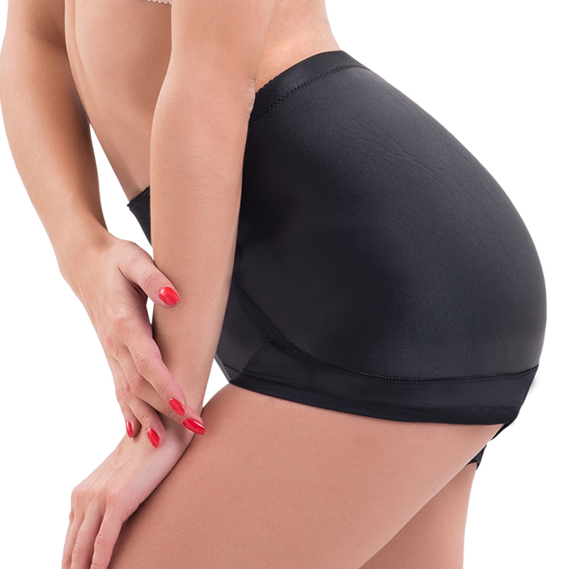 c45afc0ddc12 Popular Black Women Sexy Boyshorts Fixed Fake Hip Panties Push Up Knickers  False Bum Hip Padded Panties Butt Enhance Buttocks-in Boy Shorts from  Women's ...