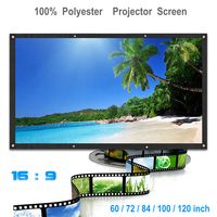 72/84/100/120 inch Polyester 16:9 Translucent   Projector   Screen Curtain HD 1080P 3D 4K Soft Canvas Cloth Projection   Accessories