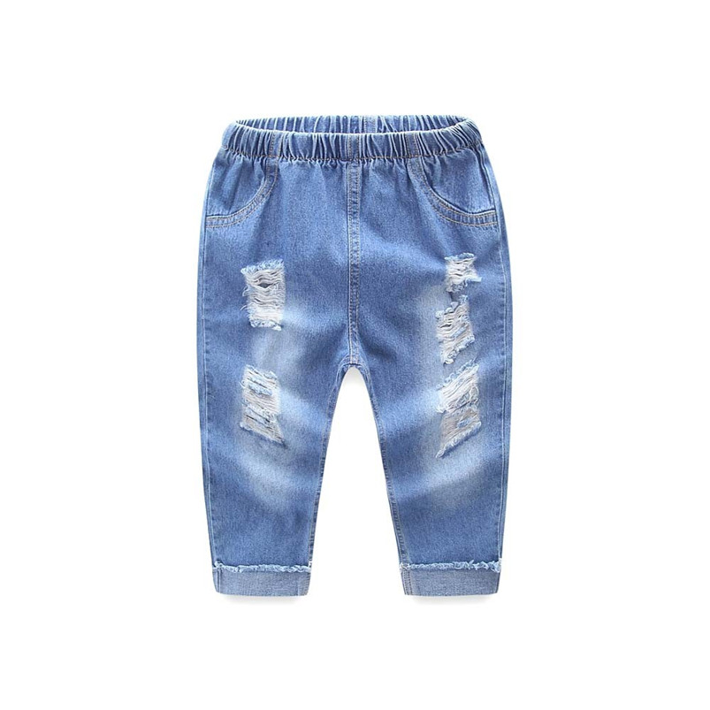 Fashion Jeans Trousers Pants Toddler Girls Infantil Boys Kids Denim Casual And for Conjunto