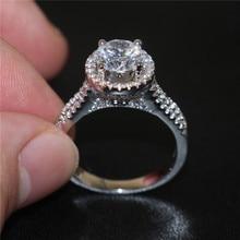 Hot sale Fashion Luxury Women Engagement Jewelry 925 Sterling silver 5A ZC Zircon Female Wedding Finger Flower Rings