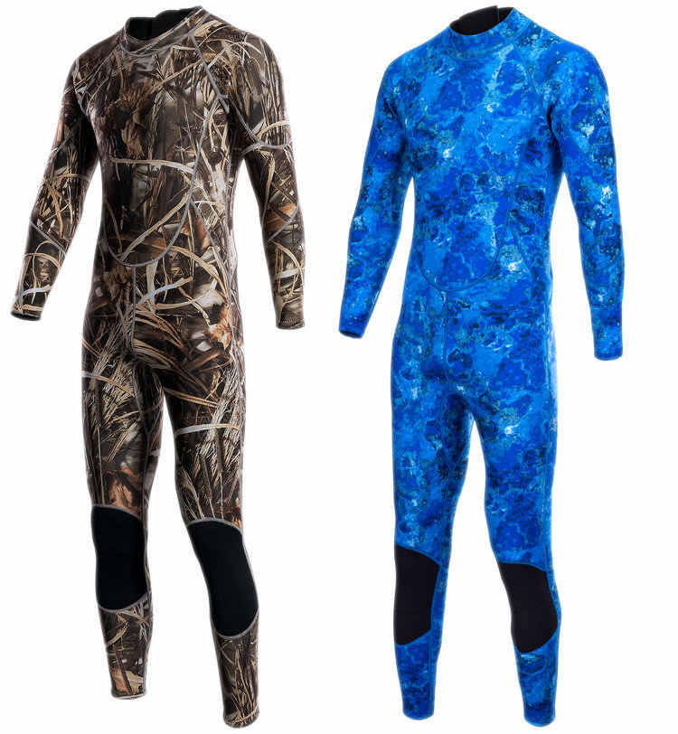 3mm kamuflaj dalgıç kıyafeti sıcak mayo kalınlaşma erkek denizanası giyim