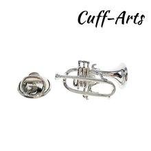 Gemelos-Broche de solapa para hombre, alfileres y broches de trompeta, insignias, joyería, P10295