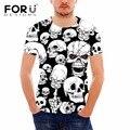 Forudesigns t shirt hombres ropa muchas cabezas del cráneo del patrón de la camiseta para Hombre Estilo Harajuku de Manga Corta Tops Camisa Tee Comodidad Superior